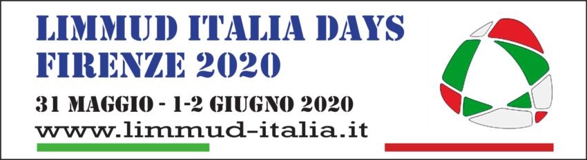 Limmud Italia Days Firenze (31 Maggio – 1-2 Giugno 2020)